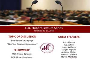 C.D. Hubert Lecture Series (2018) @ Friendship Baptist Church | Atlanta | Georgia | United States